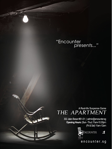 Poster design for encounter, the apartment