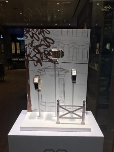 Window display design -visual merchandising for JLC at the hour glass vivocity