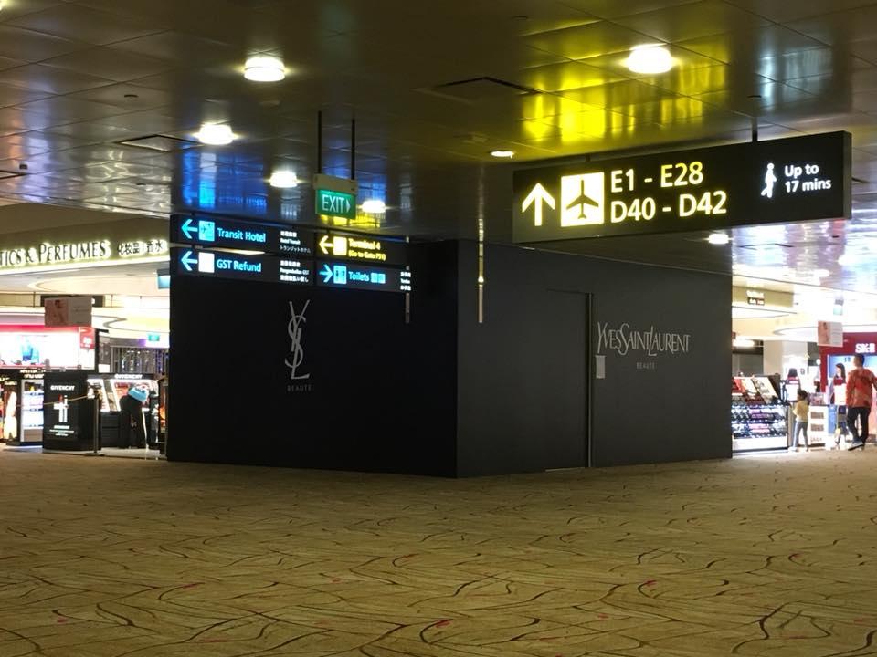 YSL & Urban Decay Changi Airport T2 The Shilla Renovation