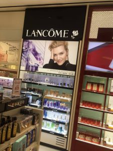 Lancome backwall changi airport t2