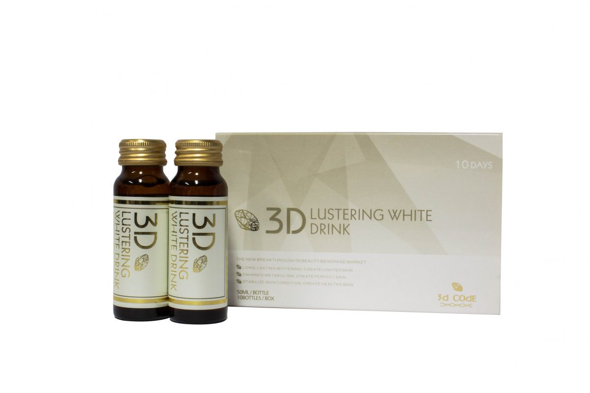 3D lustering white beauty drink packaging design