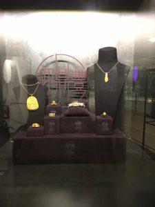 Visual merchandising window display for Imperial Harvest