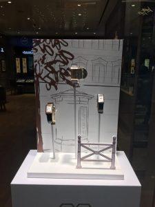 Window display design -visual merchandising for JLC at the hour glass vivocity