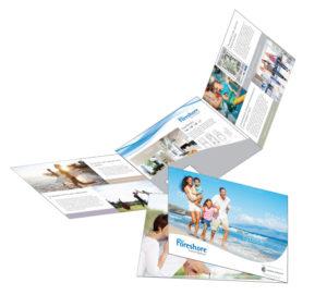 Foreshore Realty 6pp Folder Brochure Design